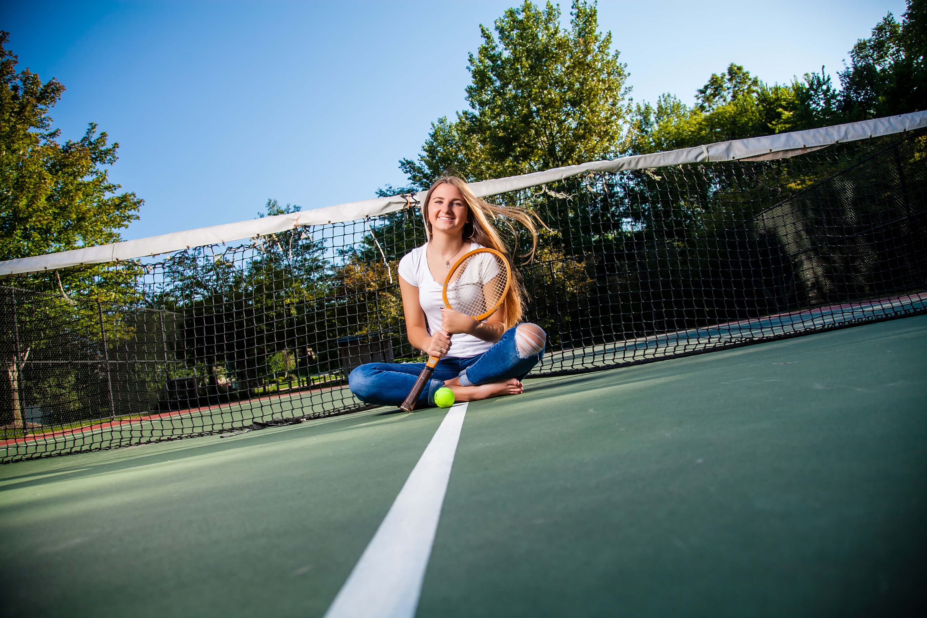 Senior pictures Omaha Nebraska tennis